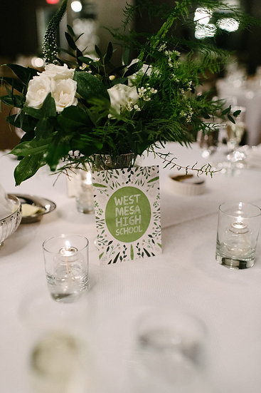 TABLE NUMBERS DESIGN FEE