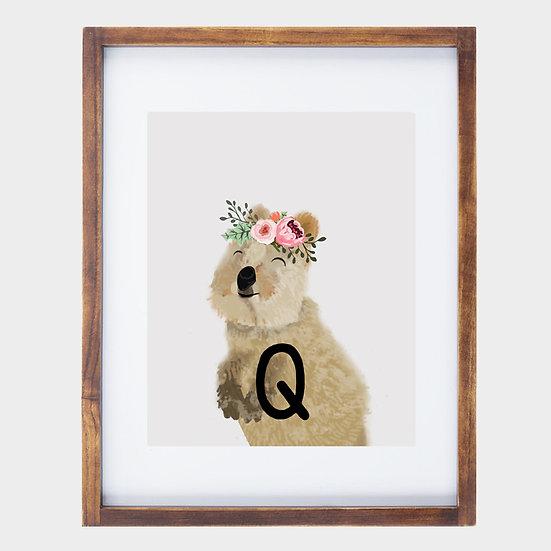 """Q"" QUOKKA 8x10 PRINT (unframed)"