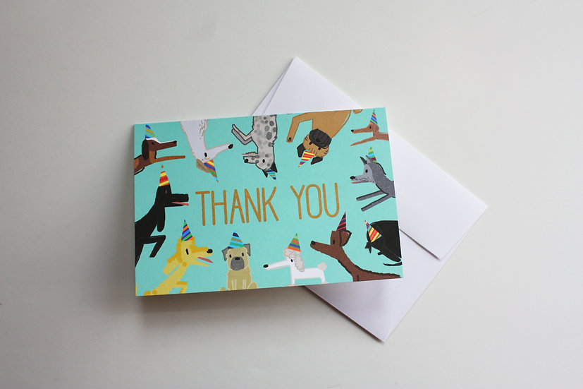 PUPPY PAW-TY THANK YOU NOTE