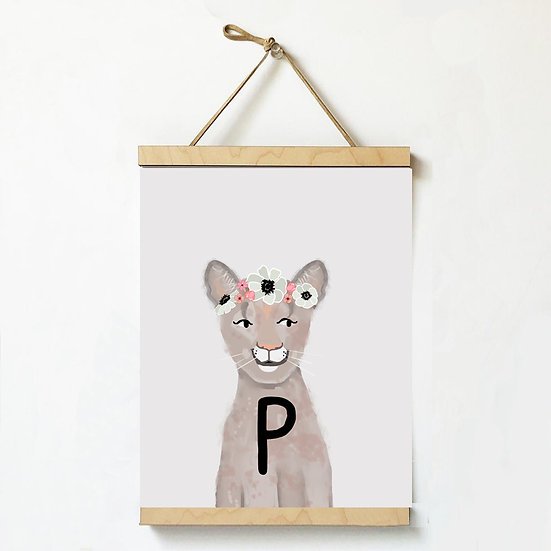 """P"" PANTHER 8x10 PRINT (unframed)"