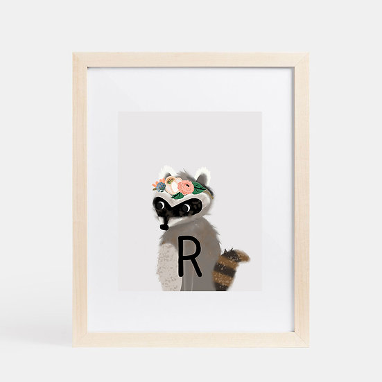 """R"" RACCOON 8x10 PRINT (unframed)"