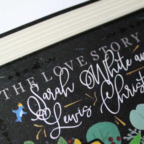 Love Story, Custom Illustrated Wedding Invitation