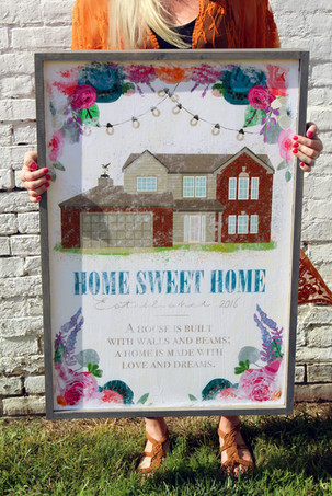 House Distressed Wood Sign