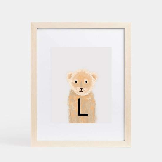 """L"" LION 8x10 PRINT (unframed)"
