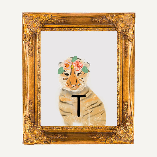 """T"" TIGER 8x10 PRINT (unframed)"