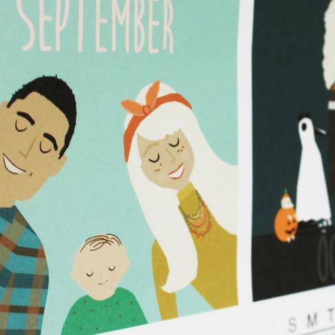 Custom Family Calendar with Family Portraits