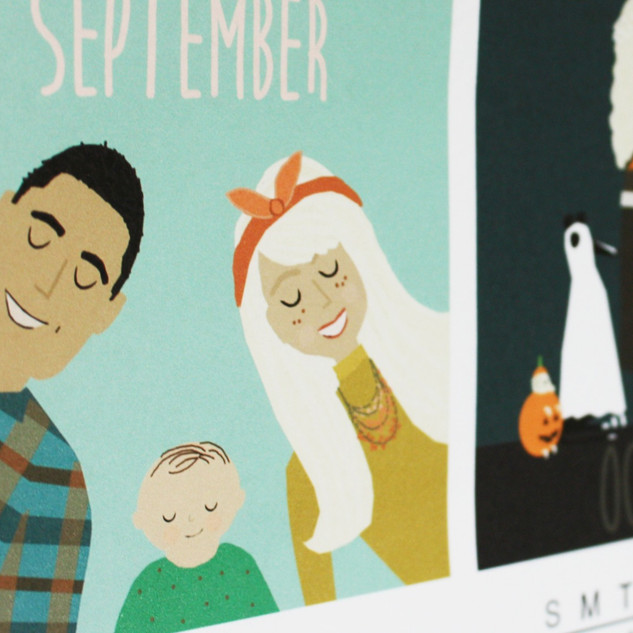 Custom Family Calendar with Family Portraits