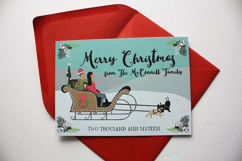 2020 Pre-Order- SLEIGH SCENE CHRISTMAS CARD DESIGN FEE
