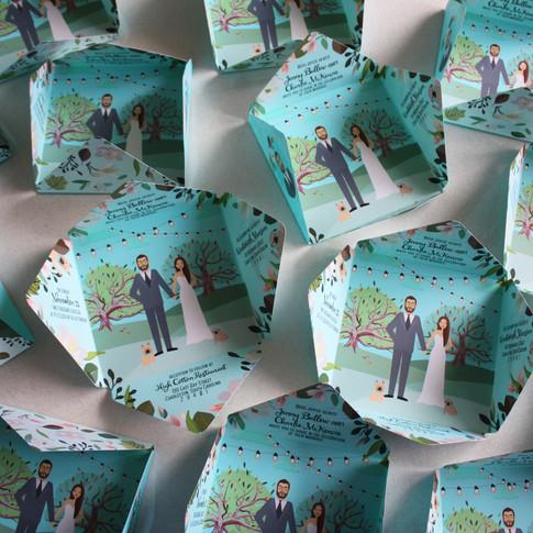 Custom Folded Wedding Invitations