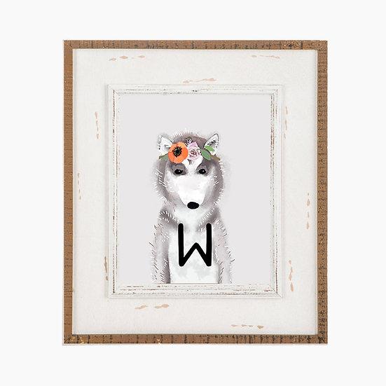 """W"" WOLF 8x10 PRINT (unframed)"