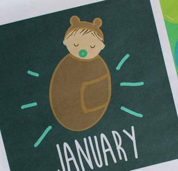 New Baby Custom Family Calendar