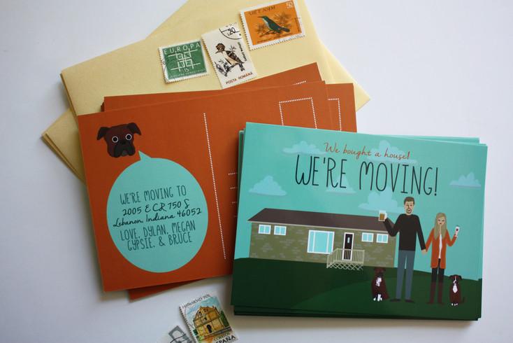 Custom Moving Postcard