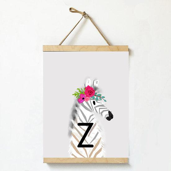 """""""Z"""" ZEBRA 8x10 PRINT (unframed)"""