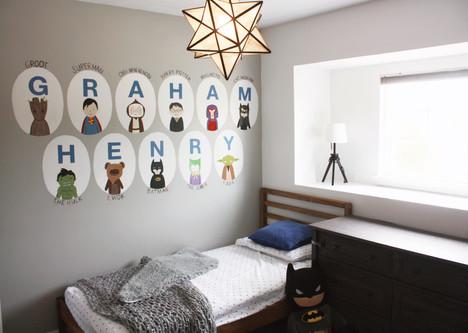 Handpainted Mural, Kid's Room