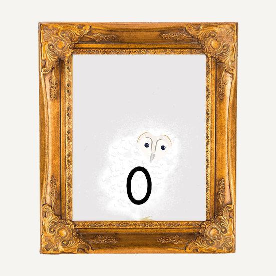 """O"" OWL 8x10 PRINT (unframed)"