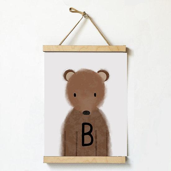 """B"" BEAR 8x10 PRINT (unframed)"