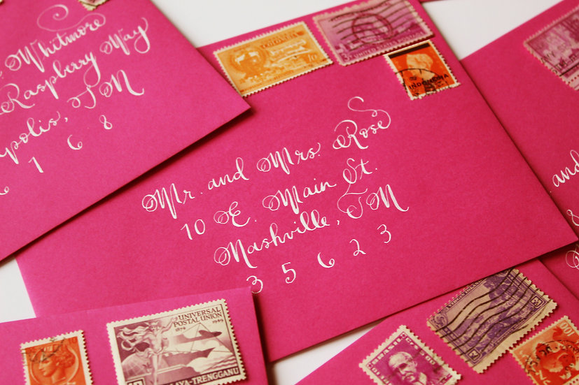 HANDWRITTEN CALLIGRAPHY ENVELOPE ADDRESSING