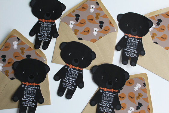 Teddy Bear Birthday Invitations
