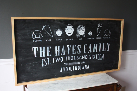 Family Portrait Wood Sign