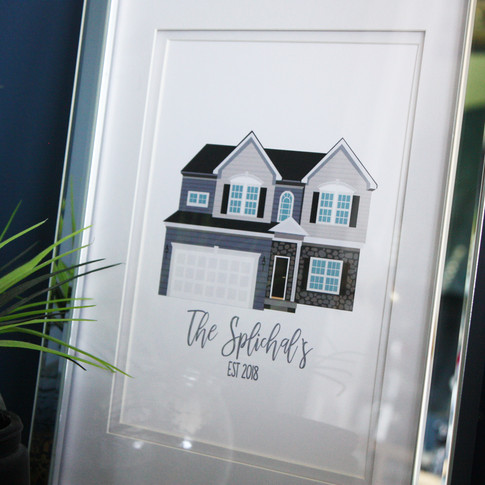 Custom Illustrated House Print
