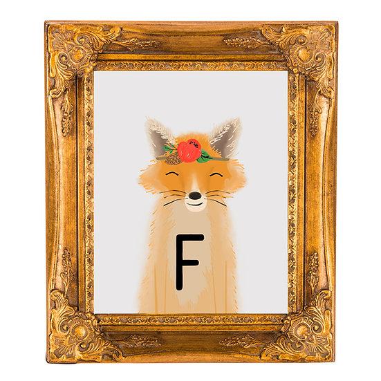 """""""F"""" FOX 8x10 PRINT (unframed)"""