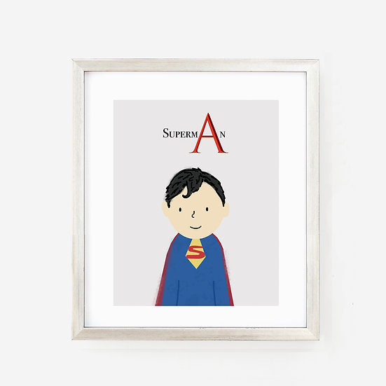 """SUPERMAN"" 8x10 PRINT (unframed)"