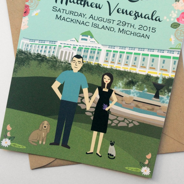 Grand Hotel Wedding Invitations