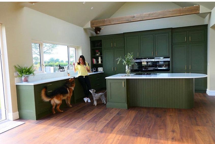 Green Kitchen - Adele Roche Colour and Design Consultant