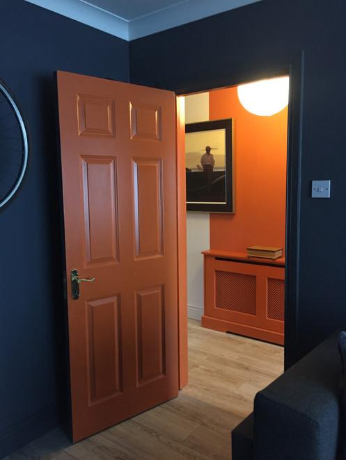 Orange Painted doors