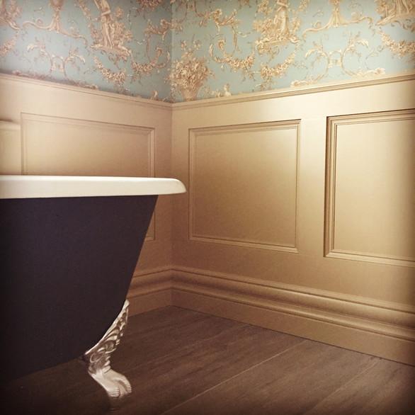 Elegant Bathroom- Freestanding Bath & wall panellling