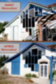 Renovation de facade et boiserie avant apres