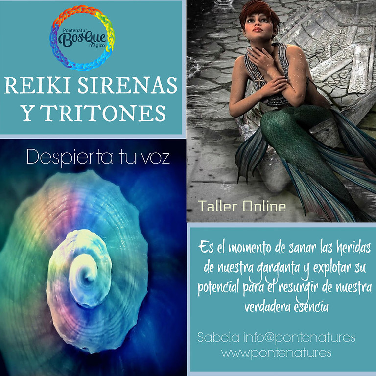 Reiki Sirenas y Tritones (TRIPLE TITULACIÓN)