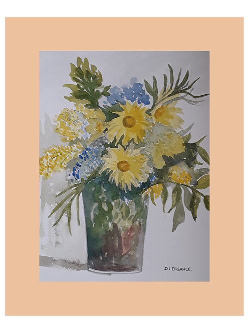 Vase From The Garden by Doris Digance