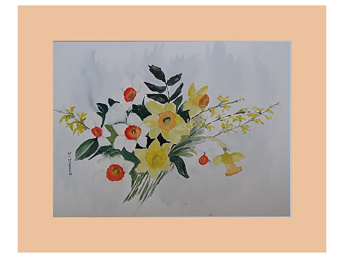 A Mix Of Daffodils by Doris Digance