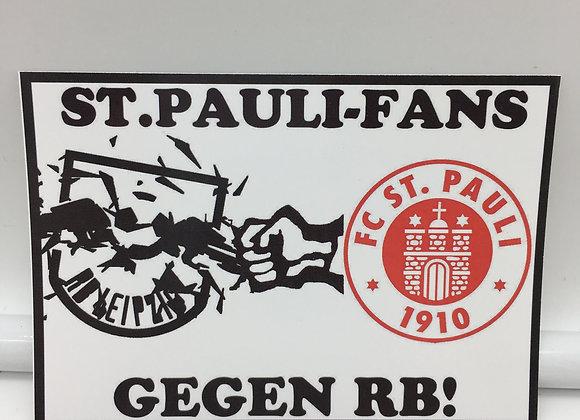 """""""St.Pauli Fans gegen RB"""" 20 Stück"""