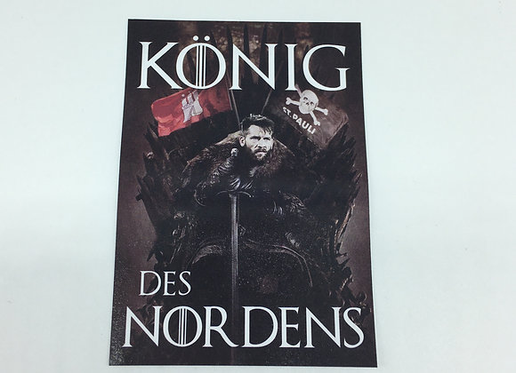 """""""König des Nordens"""" 20 Sticker"""