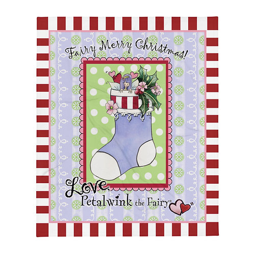Fairy Merry Christmas Petalwink Throw Blanket