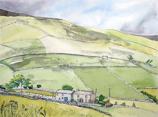 Bents House Swaledale from Road