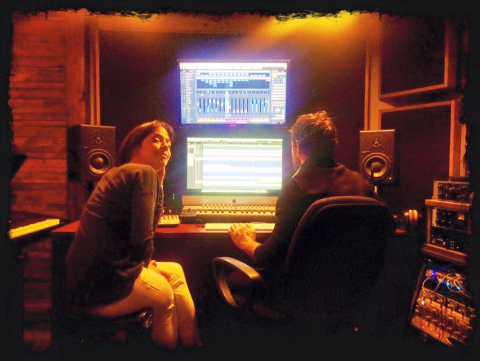 Amélie Veille en studio