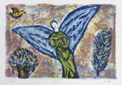"""Ange"" 28x38cm Lithographie"