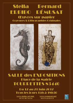 AFFICHE SALLE DES EXPOSITIONS TOURRETTES