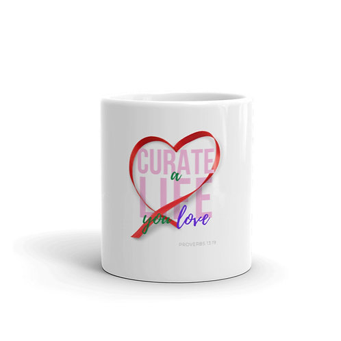 Curate a Life you Love (colorful) Mug