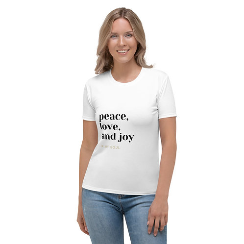 Peace, Love, and Joy Brown T-shirt
