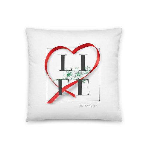 Life (Red Heart) Pillow