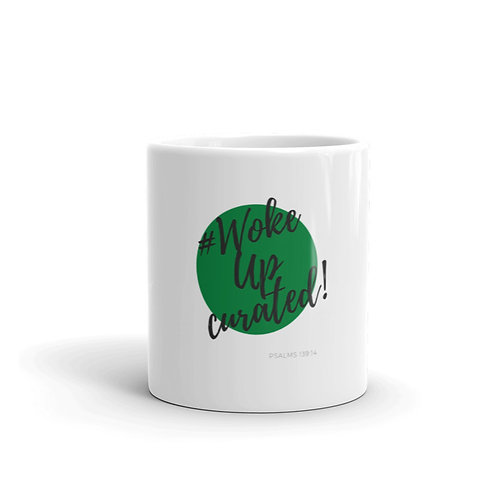 #WokeUpCurated Mug