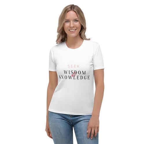 Seek Wisdom & Knowledge Red T-Shirt