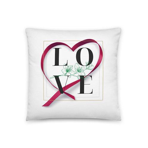 Love (Red Heart) Pillow