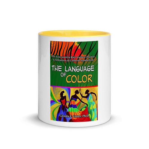 White Ceramic Mug w/ Color Inside: Yellow