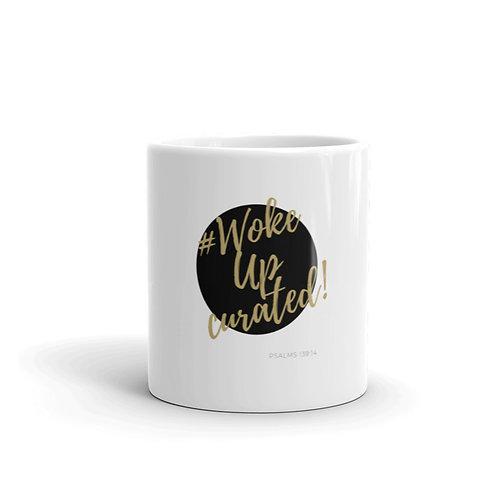 #WokeUpCurated (Black & Gold) Mug