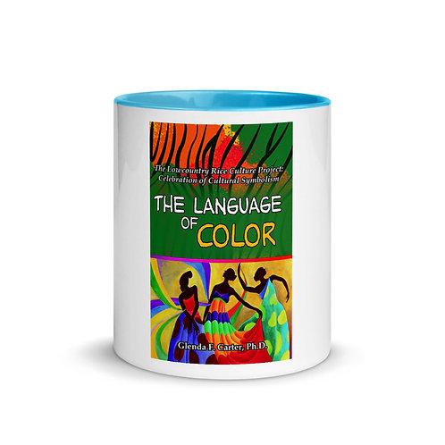 White Ceramic Mug w/ Color Inside: Blue